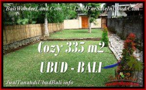 TANAH di UBUD JUAL MURAH 335 m2 View kebun