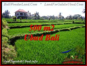 TANAH MURAH JUAL UBUD 500 m2 View Sawah, link. villa